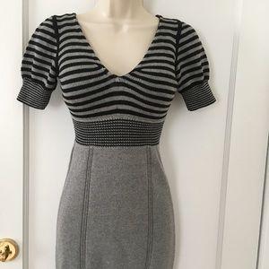 A/X Armani Exchange Gray Sweater Dress Size S